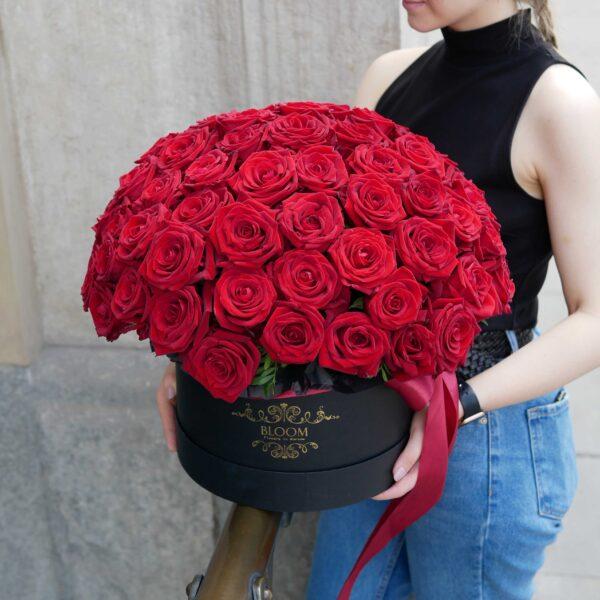 Czerwone róże w pudełku King size
