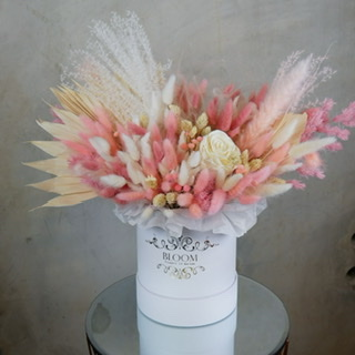 Kompozycja z kwiatów suszonych